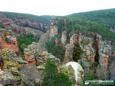 Hoces y cañones del Río Piedra y del Río Gallo -- Laguna Gallocanta - Rutas Senderismo;zapatillas